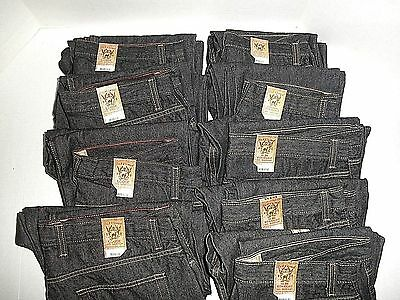 "NWT $360 WHOLESALE LOT 10 Young Mens ""RED CAMEL"" Dark Rinse Jeans, Slim & Loose"