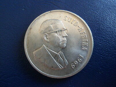 1969 South Africa Silver Rand-Dr T.E. Donges-15 Grams-Afrikaner-Stk#17-237