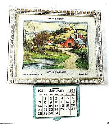 """Taylor's Grocery"" Advertising 1951 Calendar Reisterstown, Maryland"