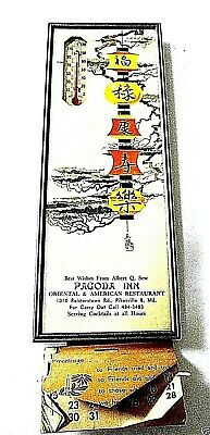 """Pagoda Inn"" Advertising Thermometer 1967 Calendar Pikesville, Maryland"