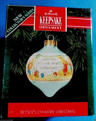 "Hallmark ""Betsey's Country Christmas"" Ornament 1992"
