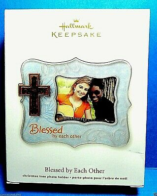 """Hallmark """"Blessed By Each Other"""" Photo Holder Ornament 2012"""
