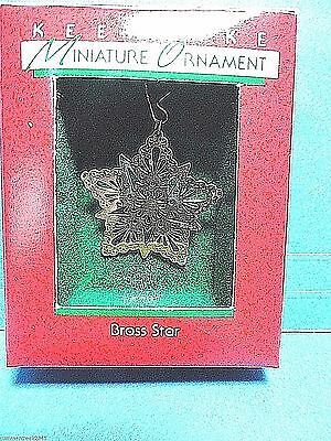 "Hallmark ""Brass Star"" Miniature Ornament 1988"