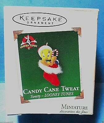 "Hallmark ""Candy Cane Tweat"" Tweety Miniature Ornament 2005"