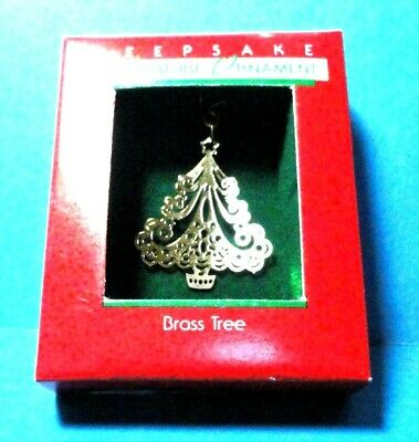 "Hallmark ""Brass Tree "" Miniature Ornament 1988"