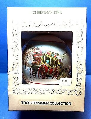 "Hallmark ""Christmas Time"" Ball Tree Trimmer Ornament 1980"