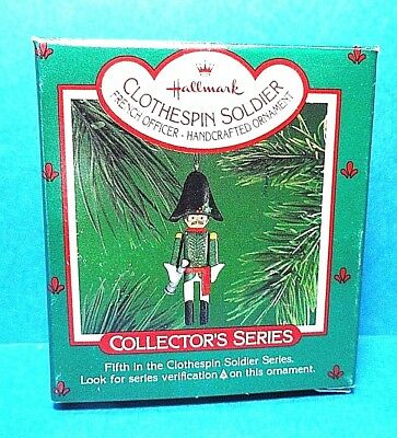 """Hallmark """"Clothespin Soldier"""" Ornament 1986 Free Shipping"""