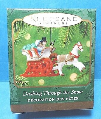 "Hallmark ""Dashing Through The Snow"" Miniature Ornament 2001"
