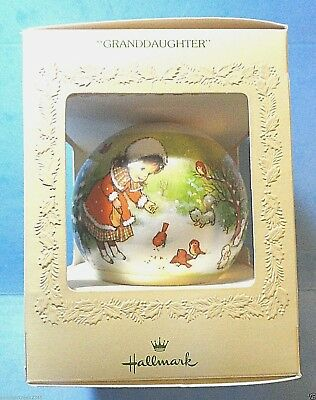 "Hallmark ""Granddaughter"" Ball Tree Trimmer Ornament 1979"