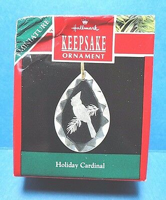 "Hallmark ""Holiday Cardinal"" Miniature Ornament 1990 D"