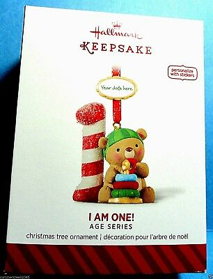 "Hallmark ""I Am One"" Birthday Ornament 2014"