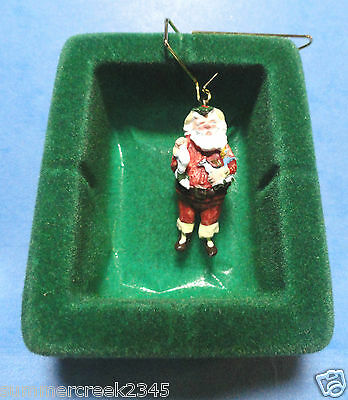"Hallmark ""Jolly St. Nick""  Miniature Ornament 1988"