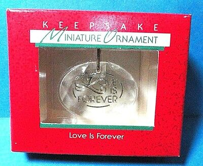 "Hallmark ""Love Is Forever"" Miniature Ornament 1988"