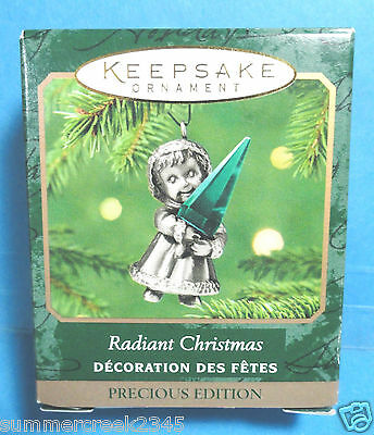 "Hallmark ""Radiant Christmas"" Miniature Ornament 2001"
