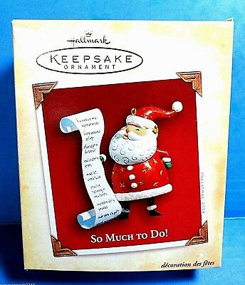 "Hallmark ""So Much To Do"" Ornament  Dated 2004"