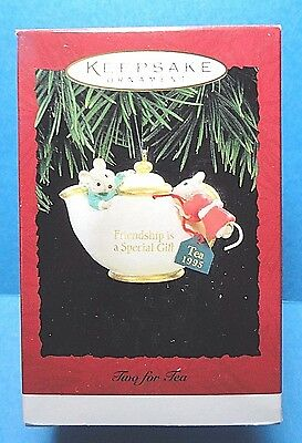 "Hallmark ""Tea For Two"" Ornament Dated 1995"
