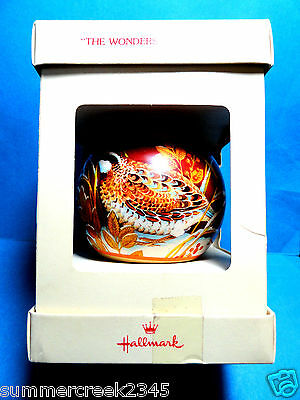 "Hallmark ""The Wonders of NAture"" Ball  Ornament 1978 Tree Trimmer Collection"