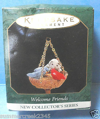 "Hallmark ""Welcome Friends "" Miniature Ornament Dated 1997"