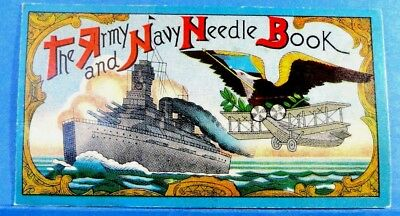 "Vintage ""The Army and Navy"" Needle Case Book"