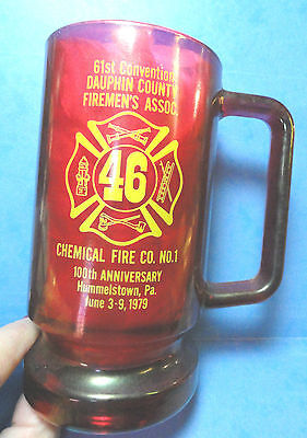 Vintage Chemical Fire Co. 100th Anniversary Hummelstown PA.Mug/Stein 1979