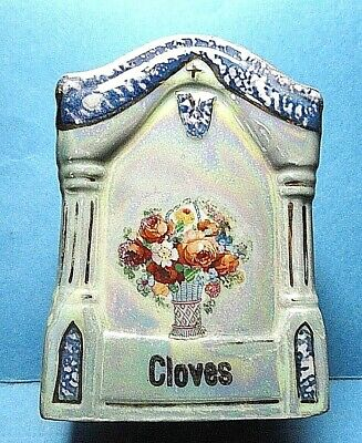 Vintage German Cloves Spice Canister Jar Free Shipping
