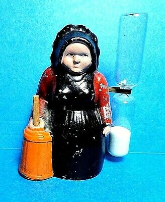 "Vintage Metal ""Amish Lady"" Sand Egg Timer  Free Shipping"
