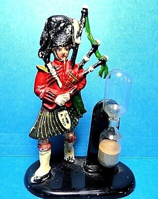 "Vintage Plastic ""Scottish Man Playing Bagpipes"" Egg Timer Casdon Product British"
