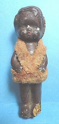 Vintage Small Black Composition Baby Doll Figurine