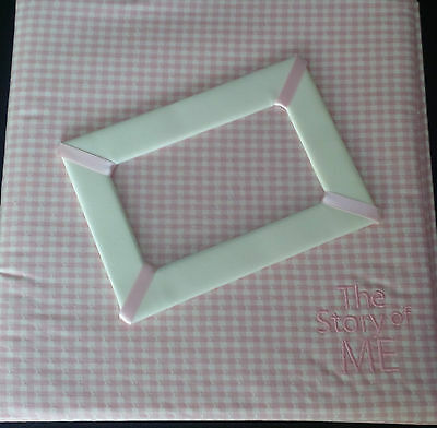 The Story of ME Baby Memory Book - Plaid Pink
