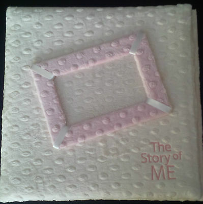 The Story of ME Baby Memory Book - Minky Ivory with Pink Accents