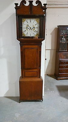 Antique Victorian Longcase Clock by Hugh Roberts Llangefni Anglesey