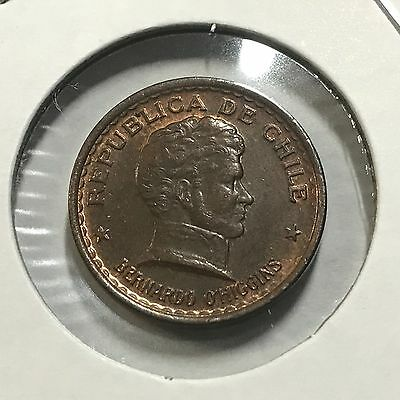 1944 Chile 20 Centavos  Nice Uncirculated Coin