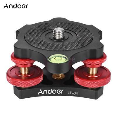 "Andoer Tripod Leveling Base Bubble Level+3/8"" Screw for Camera Max.15kg W2C1"