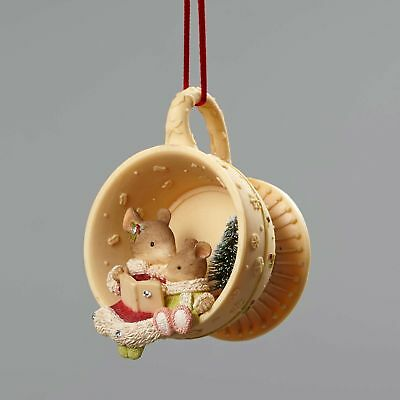 Enesco Heart of Christmas Mice In Tea Cup Ornament 4052792