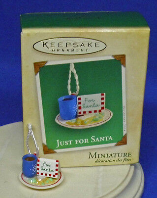 Hallmark Miniature Club Ornament Just for Santa 2004 Cookies Coffee? Cocoa? NIB