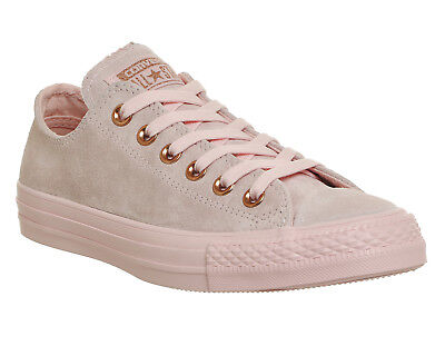 Womens Converse All Star Low Leather Trainers VAPOUR PINK MOUSE EXCLUSIVE Traine