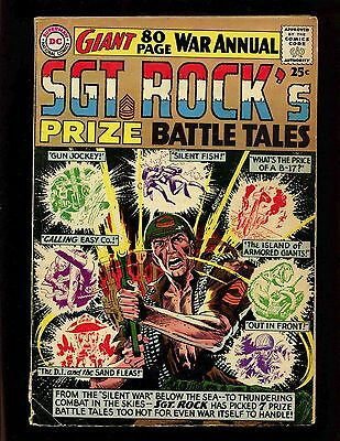 Sgt Rocks Prize Battle Tales #1 VG Giant Kubert Heath Andru Esposito Novick