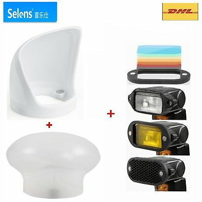 Selens Magnetic Flash Modifier Diffuser Sphere+Magnetic Honeycomb Filter+Bounce