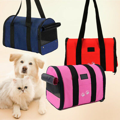 Foldable Pet Dog Nylon Handbag Carrier Travel Carry Bags For Small Animals S M
