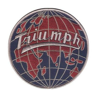 "5"" Triumph Automobile / Moyorcycle GLOBE Style - Colorful Embroidered Patch"