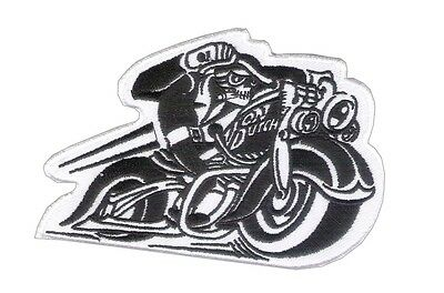 "New 4 1/2"" X 3"" Von Dutch Style - Motorcycle Embroidered Patch - MC Patch - HD"