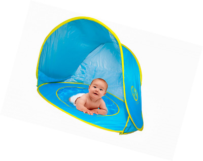 Pop Up Baby Beach Tent with Kiddie Pool, UV Protection Tent Sun Shelter, Play Te