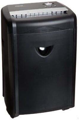 12-Sheet High-Security Micro-Cut Paper, CD, Credit Card Shredder Pullout Basket