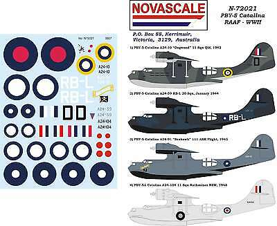 RAAF PBY-5 Catalina Decals WWII 1/72 Scale N72021