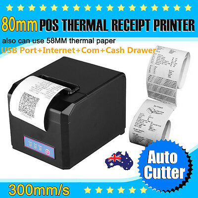POS Receipt Printer 300mm/sec 80mm Thermal Dot Auto Cutter USB/Ethernet Network