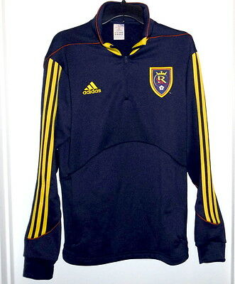 Real Salt Lake Official Genuine MLS Adidas Warm Up Pull-Over EXCELLENT