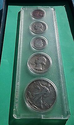 US Coin Set 5 coins ( includes H/D, Qtr, Nickel , Dime & Cent )