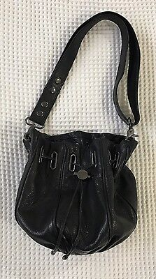 MIMCO Black Leather Cocoon / Pouch Handbag