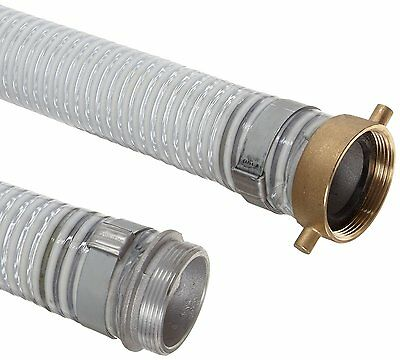 """Unisource 1500 Clear PVC Suction/Discharge Hose Highbanker Dredge 2""""x 25' Mining"""