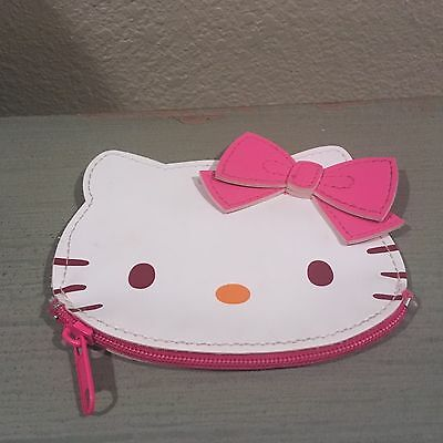 New Sanrio Hello Kitty Coin Purse White With Pretty Pink Bow Last One